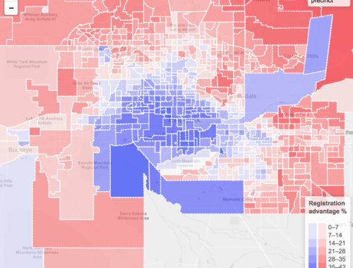 Partisan advantage in Maricopa County's voting precincts